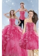 Wonderful Pink Quinceanera Dresses with Beading and Ruffles for 2015