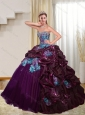2015 Wonderful Multi Color Quinceanera Dresses with Pick Ups and Appliques