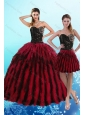 Luxurious Multi Color Sweetheart Quince Dresses with Beading and Ruffles