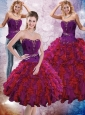2015 Luxurious Multi Color Quinceanera Dresses with Ruffles and Beading