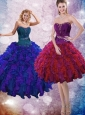 Cheap Multi Color Quinceanera Dresses with Ruffles and Beading for 2015