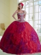 Unique Multi Color 2015 Quinceanera Dresses with Beading and Ruffles