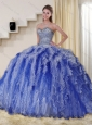 Gorgeous Multi Color Sweetheart Quinceanera Dresses with Beading and Ruffles for 2015