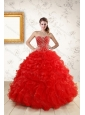 2015 Fashionable New Style Quince Dresses With Beading and Ruffles