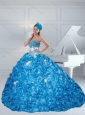 New Style 2015 Sweetheart Quinceanera Dresses with Beading and Pick Ups