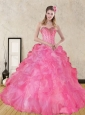 Wonderful Pink Quince Dresses with Beading and Ruffles