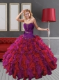 2015 Gorgeous Ruffles and Beading Quinceanera Dresses in Multi Color