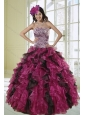 2015 Unique Ball Gown Dress for Quinceanera with Leopard Print