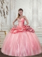 Detachable and Super Hot Baby Pink Sweet 15 Dress with Beading