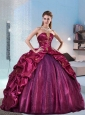 2015 Brand New and Detachable Sweet 15 Dress in Fuchsia