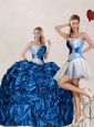 Detachable Sweetheart Blue Quinceanera Dress with Pick Up