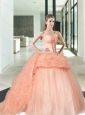Unique and Hot Sales Pink Sweet 16 Dress with Beading and Ruffles For 2015