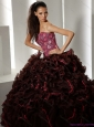 2015 Modest Multi Color Quinceanera Gowns with Ruffles and Appliques