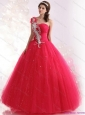 The Super Hot One Shoulder Dresses for a Quinceanera with Beading for 2015