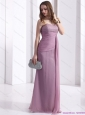 2015 Elegant Discount Strapless Ruching Floor Length Prom Dress in Lilac