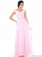 2015 Elegant Off the Shoulder Beading Prom Dress in Baby Pink