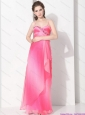 Elegant 2015 Spaghetti Straps Prom Dress in Multi Color