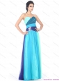 Elegant Multi Color Sweetheart Prom Dresses with Ruffles and Beading