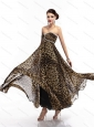 Cheap Sweetheart Leopard Floor Length Christmas Party Dress for 2015