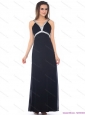 Modest and Exquisite Floor Length Beading Black Prom Dress for 2015