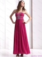 Modest Strapless Floor Length 2015 Prom Dress with Beading