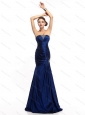 2015 The Super Hot Strapless Mermaid Plus Size Prom Dress with Beading