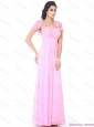 Cute Beading Sweetheart Ruching Plus Size Prom Dresses in Baby Pink