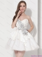 Wonderful Sweetheart Ball Gown Plus Size Prom Dress in White