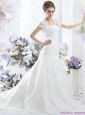 2015 New and Fashionable A Line Strapless Wedding Dress for 2015