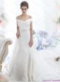 2015 New Off the Shoulder Beading Wedding Dress