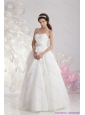 2015 New Style Sweetheart Wedding Dress with Paillette and Ruching