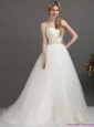 2015 New Sweetheart Wedding Dress with Beading and Ruching