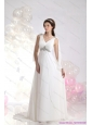 2015 New V Neck Wedding Dress with Beading and Ruching