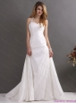 2015 Plus Size  Halter Top Wedding Dress with Beading and Ruching