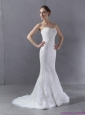 2015 Plus Size Sweetheart Mermaid Wedding Dress with Lace