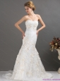 New 2015 Classical Sweetheart Wedding Dress with Beading and Appliques