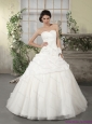 New 2015 Popular Sweetheart Wedding Dress with Ruching and Appliques