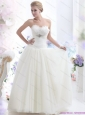 New 2015 Simple Sweetheart Wedding Dress with Beading