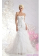 New Sweetheart Wedding Dress with Appliques and Ruffles for 2015