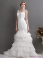 Plus Size Mermaid Wedding Dress with Lace and Ruffles for 2015