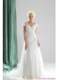 Plus Size 2015 Beading and Lace Wedding Dress with Court Train