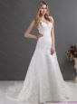 2015 The Most Popular Lace Beach Wedding Dress with Spaghetti Straps