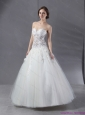 2015 Simple Sweetheart Lace Beach Wedding Dress with Floor-length