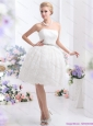 2015 Short Strapless Wedding Dress with Knee-length