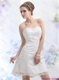 2015 Short Sweetheart Wedding Dress with Lace