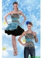 Detachable Classical 2015 Multi Color Prom Dress with Pick Ups and Belt