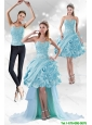 Detachable Perfect Sweetheart 2015 Prom Dress with Beading and Ruffled Layers