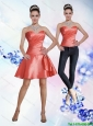 Detachable New Style Sweetheart A Line Beading Orange Red Prom Dress for 2015