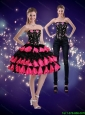 Detachable Remarkable Multi Color 2015 Prom Dress with Appliques and Ruffled Layers
