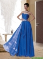 Cheap 2015 Sweetheart Beading Prom Dress in Royal Blue